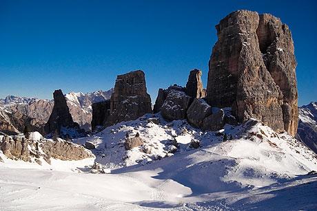 Cinque Torri Cortina im Winter