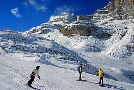 Skifahren,Ski und Snowboarding in Cortina