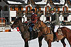 2 Polo Players In The Winter Cortina